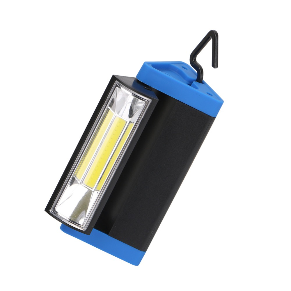 Rechargeable COB Light Strip Flashlight 1 Mode Work Light Torch with Magnet and Hook Mobile Power Bank For Your Phone+USB Cable
