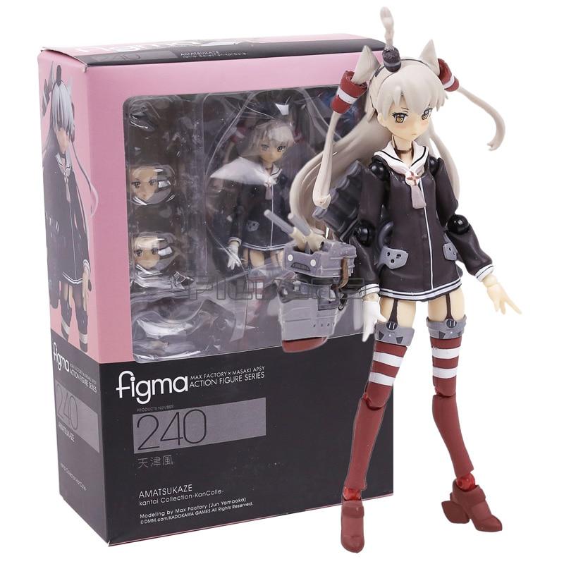 Anime Kantai Collection Amatsukaze Figma 240 PVC Action Figures Collectible Model Toys Doll 15cm цена