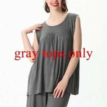 Mferlier Female Nightwear Set Large Size 4XL 5XL 6XL 7XL Ladies Solid Loose Elastic Pink Gray Black Blue Women Pajamas Set 18