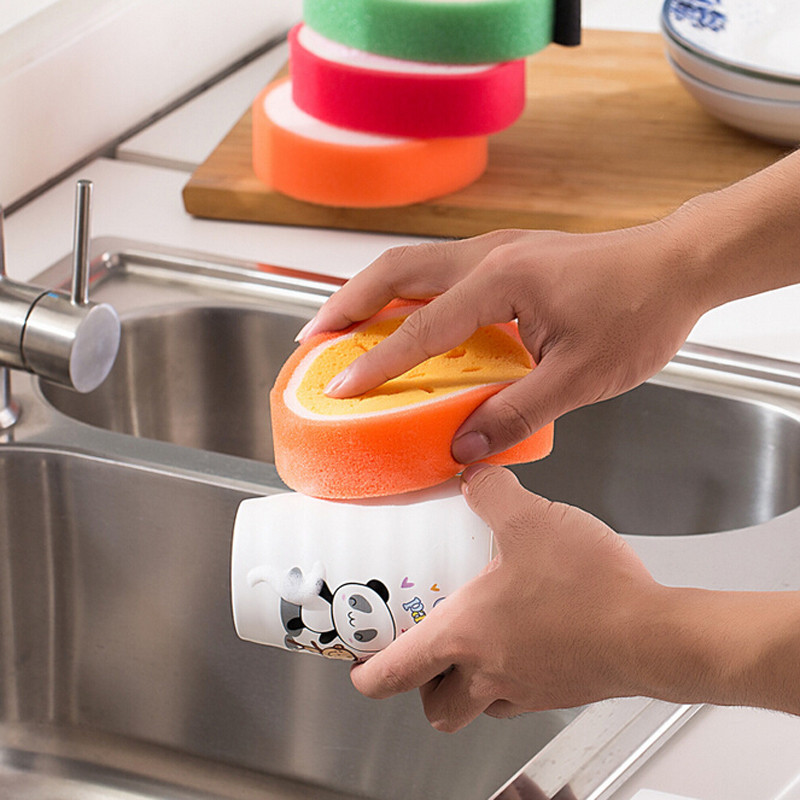 2pcs Magic Dish Towel Fruit Shape Thicken Microfiber Sponge Cloth Cleaning Dish Rags Scouring Pads Kitchen Accessories EJ674343