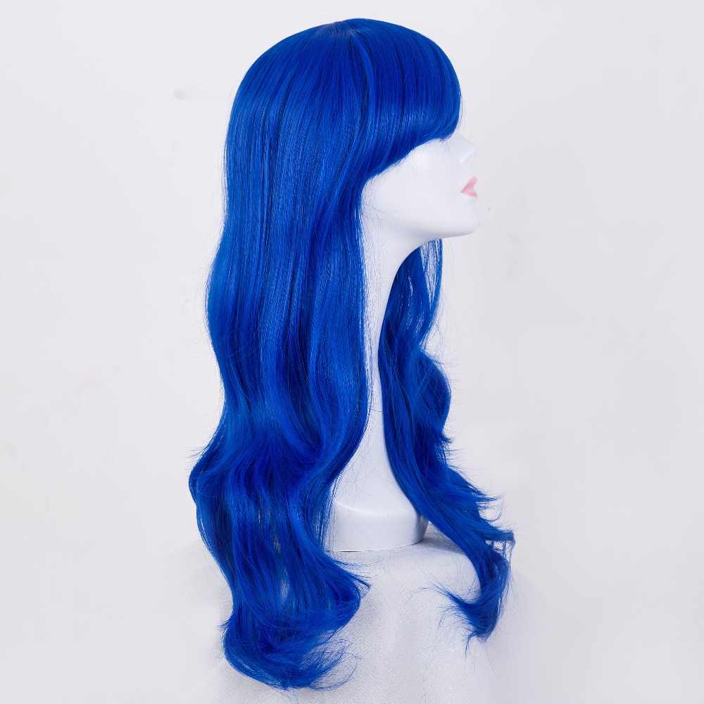 Cos-play парик Fei-Show синтетические термостойкие волокна длинные волнистые алмазные синие волосы Perruque вечерние женские Мультяшные ролевые волосы