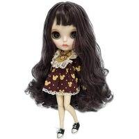 Горячая 30 см 12 дюймов длинные кудрявые волосы Blyth Кукла тело совместное кукла включая одежду и обувь 1/6 большие глаза BJD кукла для DIY куклы мак