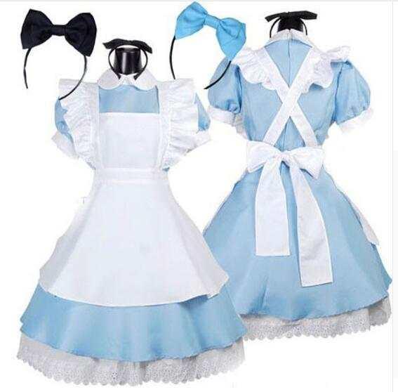 Online Shop Hot Sale plus size XL Alice in Wonderland Costume Lolita ...
