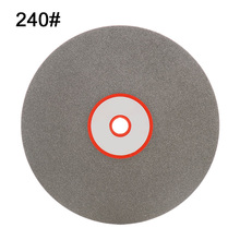 6 Inch Grit 240 Diamond Coated Flat Lap Wheel Jewelry Grinding Polishing Disc 150mm Sheet New