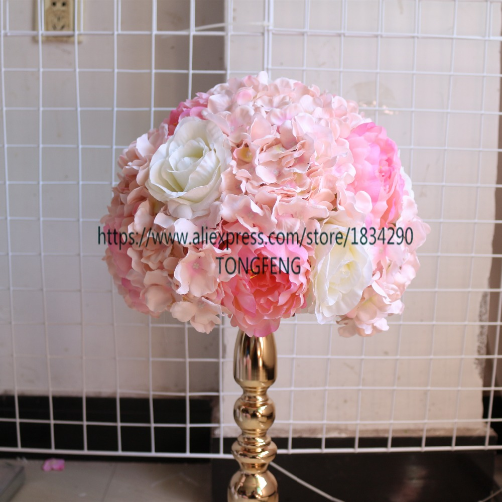 TONGFENG Wedding decoration road lead artificial flowers wedding ...