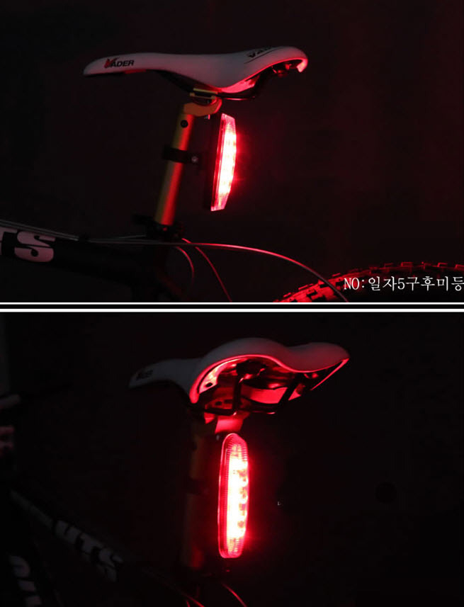 Solar Powered LED-Rear Flashing Tail Light for Bicycle Bike Cycling Lamp FT MT