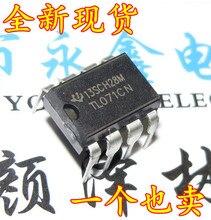Original 20 pçs/lote TL071 TL071CP TL071CN DIP8 Low Noise Amplificadores Operacionais Input JFET TI IC
