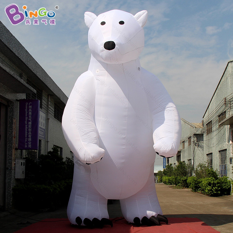Outdoor Christmas inflatables polar bear / inflatable animal / giant inflatable bear for advertising promotion free shipping stock giant inflatable snowman outdoor advertising inflatable christmas decoration