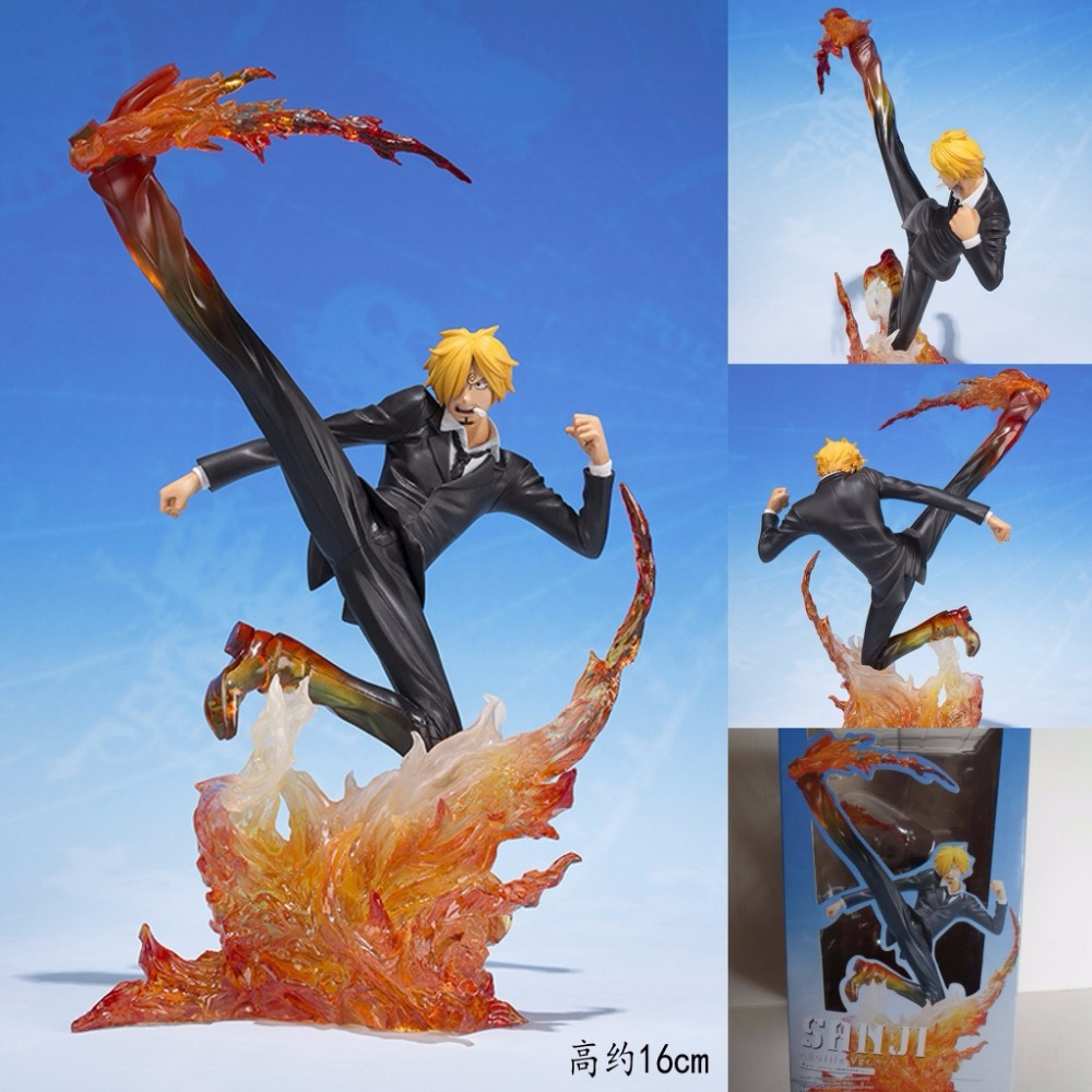 Anime One Piece Figuarts Zero Sanji Diable Jambe Battle Ver. PVC Action Figure Collectible Model Doll Toys For Kids 16CM OPAF080 16cm one piece sanji anime action figure pvc collection model toys for christmas gift free shipping
