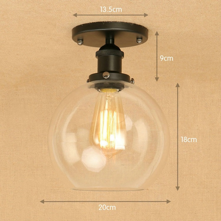 IWHD Blaack Led Ceiling Light Fixtures Glass Ball Lampara de techo Vintage Ceiling Lights For Living Room Home Lighting AvizeIWHD Blaack Led Ceiling Light Fixtures Glass Ball Lampara de techo Vintage Ceiling Lights For Living Room Home Lighting Avize