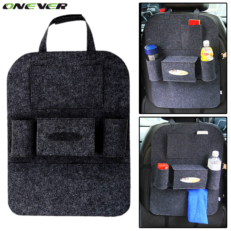 onever auto car seat storage bag car seat back ravel storage bag hanger car styling back car. Black Bedroom Furniture Sets. Home Design Ideas