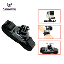 SnowHu for Gopro Accessories 360 Degree Rotation mini Wrist Strap Band  Hero 7 6 5 4 SJCAM yi 4k camera LD09