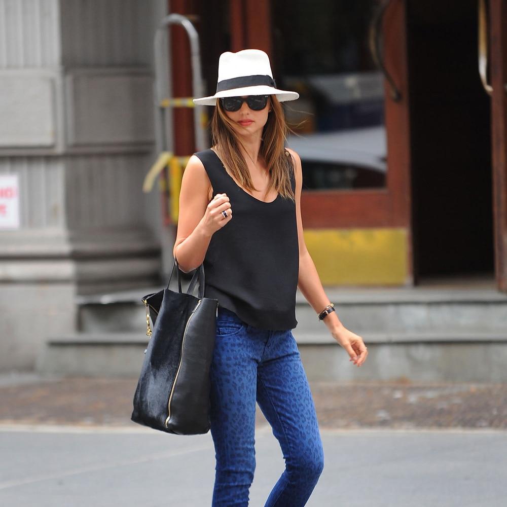 Fashion Men Women Panama Hat Contrast Color Straw Ribbon Pinched ... c5dc9b6a5a1