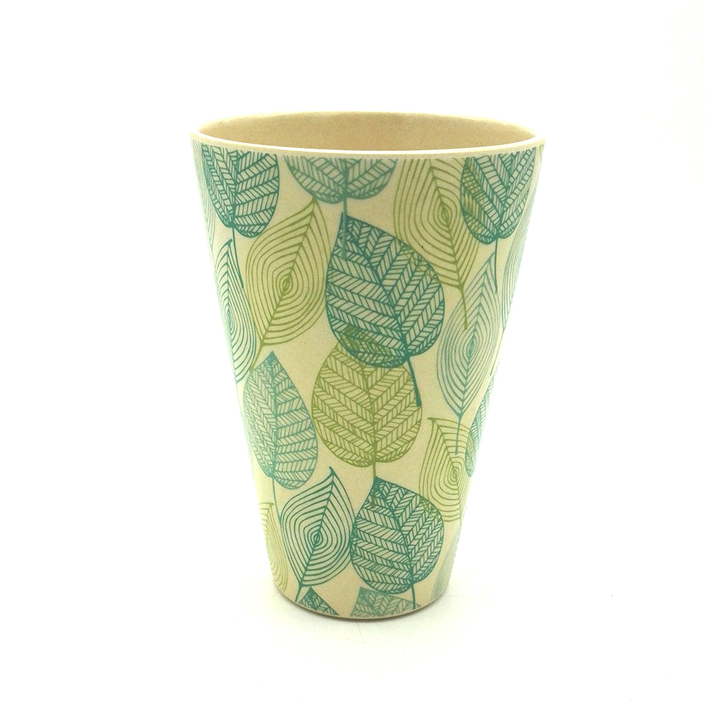 2017 New Type Bamboo Fiber Mugs Leaves Products Top Grade