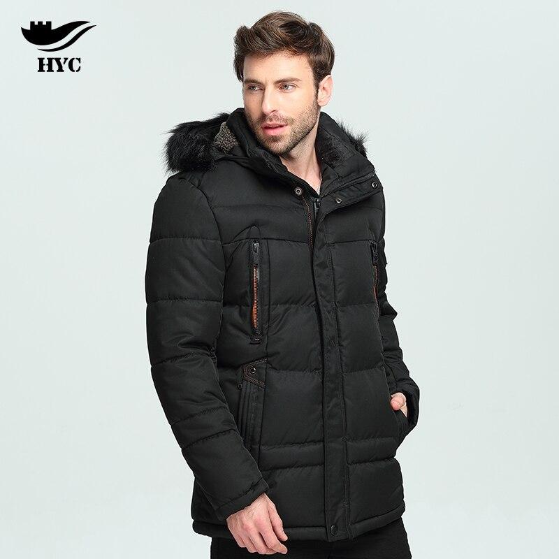 Hai Yu Cheng Parka Men Winter Jacket Men Nylon Quilted Jacket