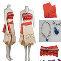Последним в Исходном COS Довольно Моана Принцессы Cospaly Костюм Костюм + Ожерелье Sandbeach Платье Нестандартного Размера Высокого Качества Моана