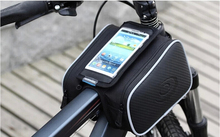 universal mountain bike saddle Phone bag frame front head top tube double bag bicycle beam pipe cycling phone holder case pouch
