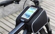 universal mountain bike saddle Phone bag frame front head top tube double bag bicycle beam pipe