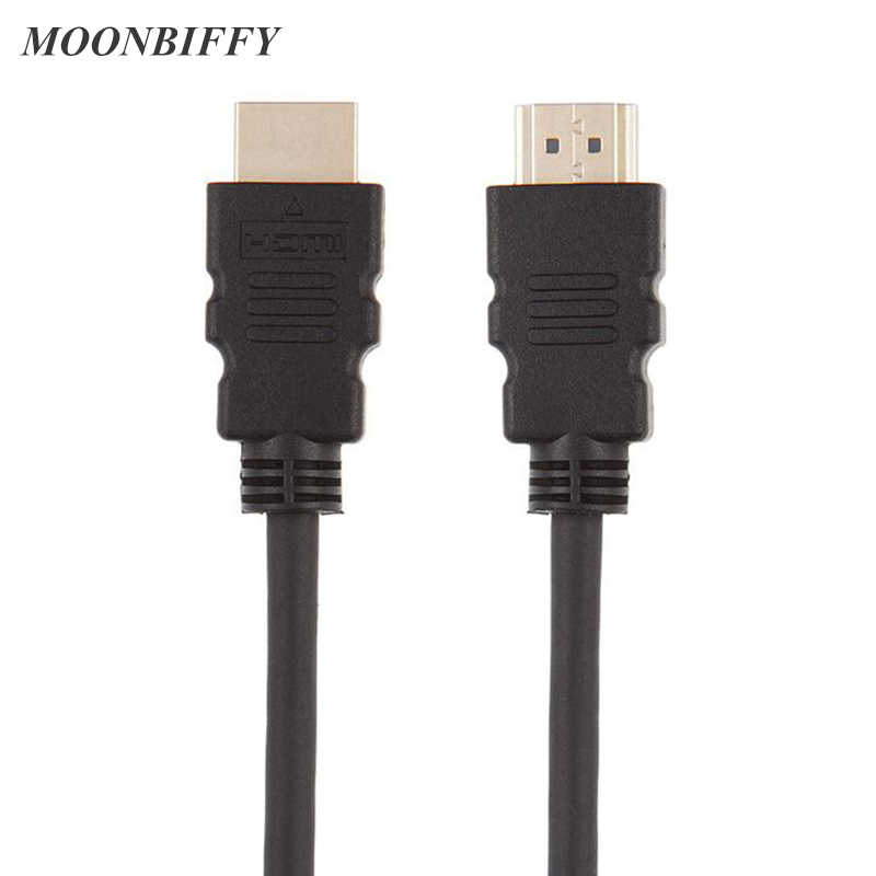 MOONBIFFY HDMI Cable 1080P High speed Gold Plated Plug Male-Male 1.4 HD Cables For Set-top Box Computer Projector