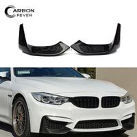 M3 M4 Carbon Fiber Front Bumper Lip Splitter Corner Spoiler Lip For BMW 4 Series F80 F82 F83 2014 +