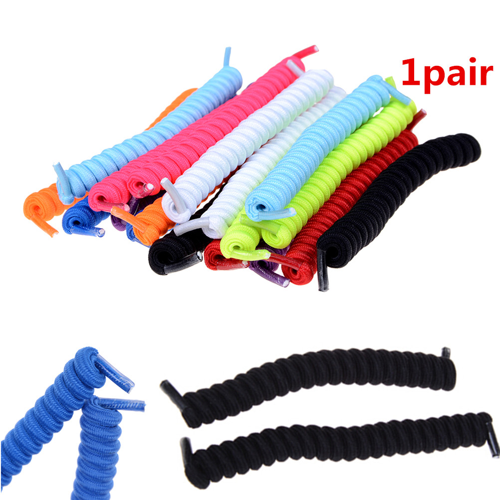 1Pair Kid/Adult Curly Elastic Coil No Tie Shoe Laces String For Sport Shoes Self Gripping Can Be Loosened/Tightened Shoelaces