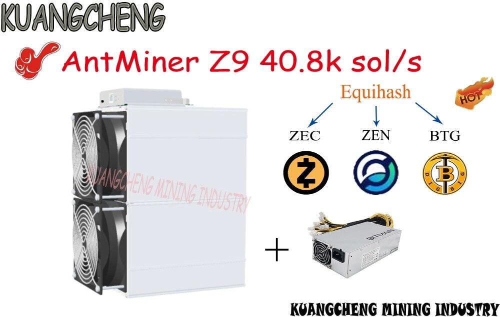 Viejo 90% nuevo asic ANGCHENG AntMiner Z9 42k sol/s con PSU equivalente a cuatro Antminer z9 mini puede excavar monedas ZEC ZEN BTG BTc