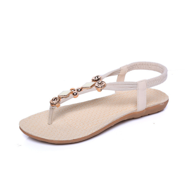 Women Sandals Ankle-strap 2016 New Flip Flops Women Summer Sandals Shoes Diamond Accessories Bohemia Style Footwear Woman