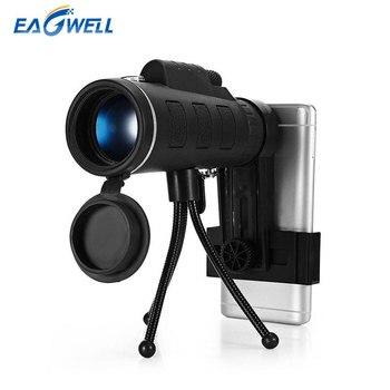 Universele 40X60 Zoom Telescoop HD Telefoon Lens voor iPhone X 8 plus Voor Samsung Xiaomi Outdoor Camping Vissen Statief Mobiele Lens