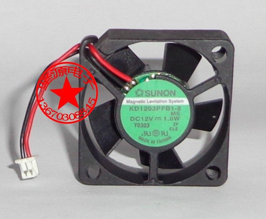 SUNON KD1203PFB1-8 MS DC 12V 1.0W 30x30x10mm Server Square