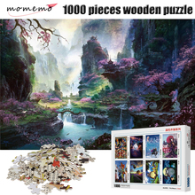 MOMEMO 50CM*75CM Mountain 1000 Pieces Wooden Puzzle Adults Landscape Figure Assembling Toys Game