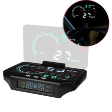 New Hot 2 in 1 Car HUD & Tire Pressure Monitoring Head Up Display Speed Warning GPS Projector Tool DXY88