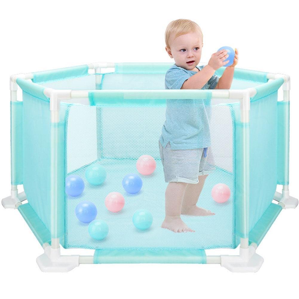 Parc à jouets hexagonaux pour enfants bébé jouets rampants en toute sécurité pour tout-petits Kit de piscine à balles de mer lavable et amovible
