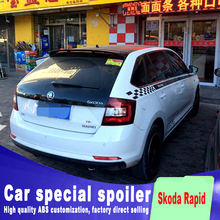 2012 2013 2014 2015 2016 for Skoda fabia 3 spoiler by high quality spoilers rear window roof tail wing