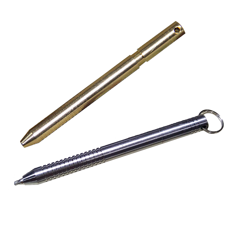 H916 New Mini brass version of gold cuff stick telescopic pen multi - purpose outdoor waterproof pen EDC tools