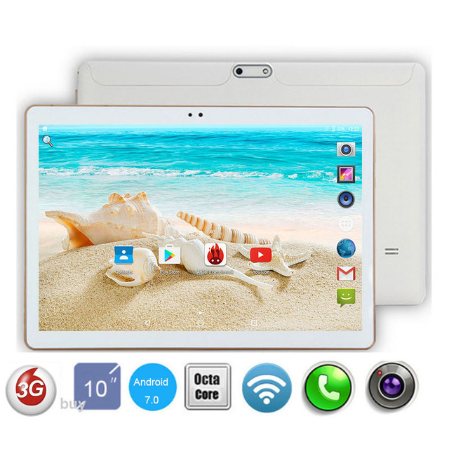 Новинка 2017 года DHL Бесплатная 10 дюймов Tablet PC Octa core 4 ГБ Оперативная память 64 ГБ Встроенная память Две сим-карты 3 г WCDMA Android 7.0 GPS Планшетный ПК 10 10.1 + подарки