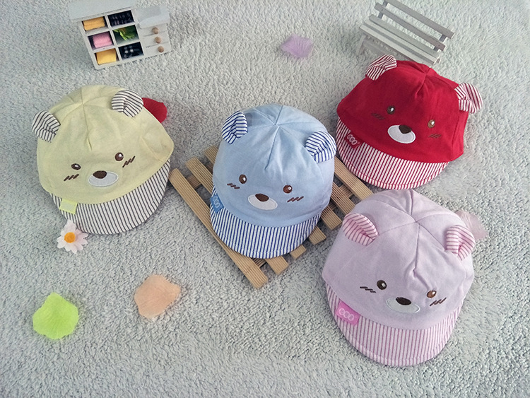 Bear Face Newborn Baby Baseball Cap - Available Colors