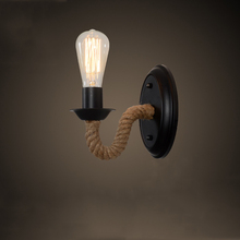 Classic European retro rope wall lamp sconce for corridor aisle cage restaurant dining room stair balcony porch lights a1 the bird creative pastoral style porch corridor aisle lights european bedroom windows small restaurant balcony pendant lig