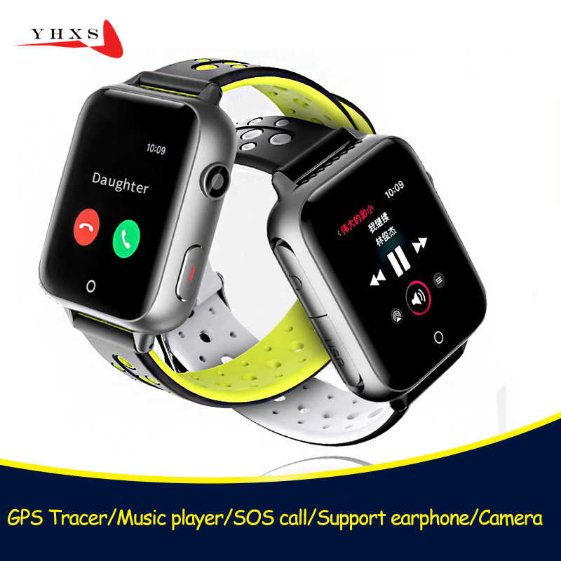 Smart Children Students GPRS LBS Watch Kids SIM Card 1.54 inch Touch Screen SOS Call Tracker SmartWatch Music Earphone Plug 32GB