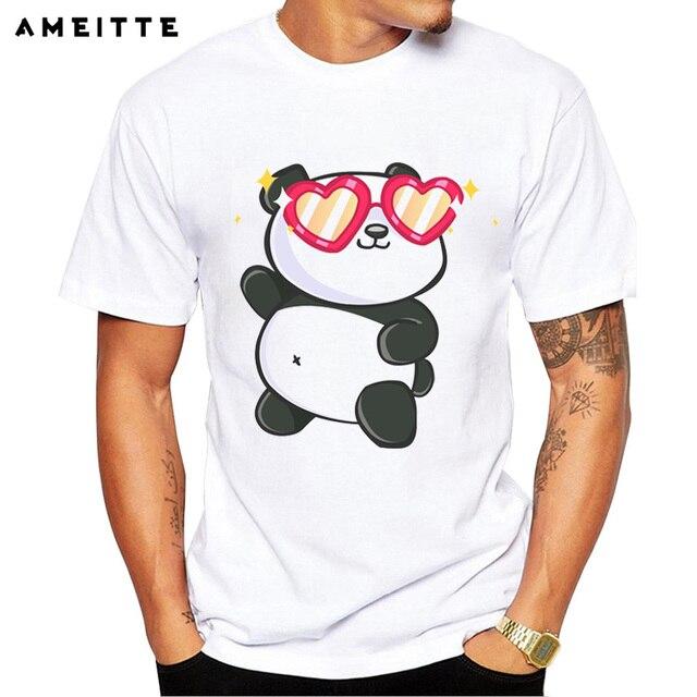 df6beb7ced3 AMEITTE Funny Fabulous Panda T Shirt Men s Cartoon Panda Printed Streetwear Short  Sleeve Geek Style tshirts Tops camiseta hombre