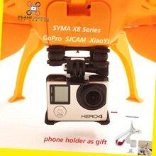 YEAHDRONE font b RC b font SJCAM Xiaoyi Gopro Hero Gimbal Phone Holder for Syma X8