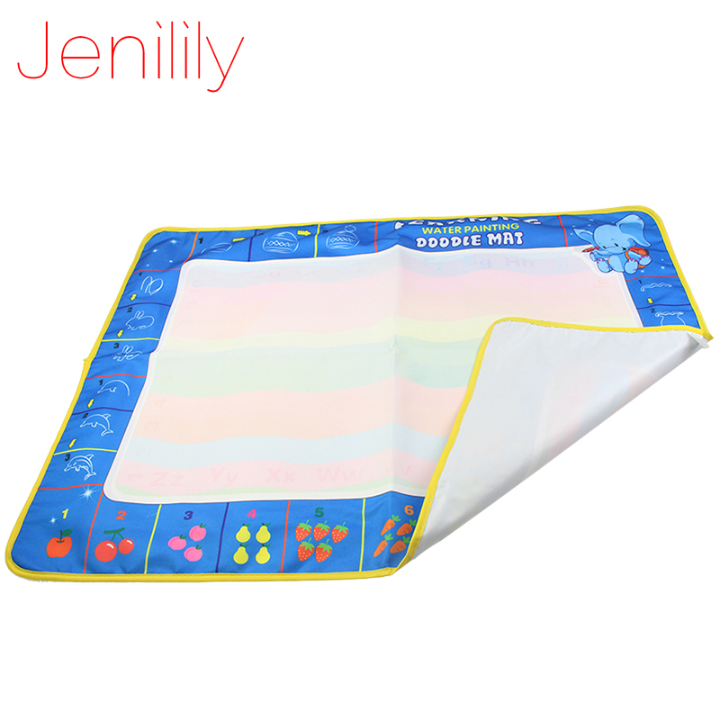 Jenilily 80X60cm Big Size Magic Drawing Toys Tool Colorful Baby Water Doodles Mat with 1 Magic Pen Painting Toys for Children