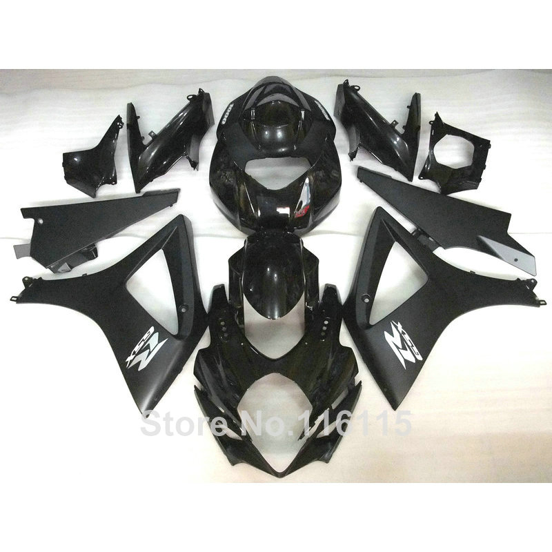 High quality ABS fairing kit for SUZUKI GSXR 1000 2007 2008 K7 K8 all black fairings set 07 08 GSXR1000 JS5 cp11 sata cable lateral 90 degree angled sata connector 6gb s 30cm blue