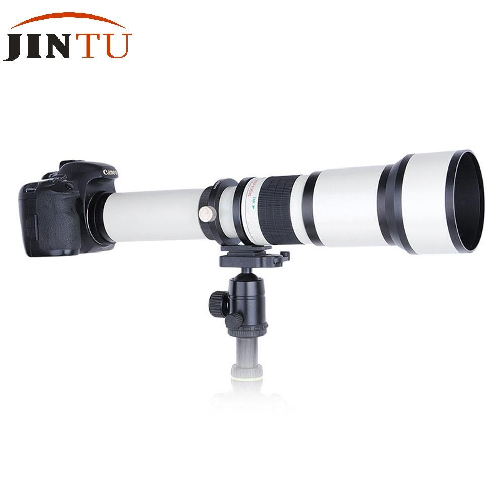 JINTU 500mm f/6.3 Telephoto Fixed Prime Lens + T2 Adapter for Canon EOS Camera 1300D 1200D 1100D 60D 70D 80D 7D 750D 800D 5DII