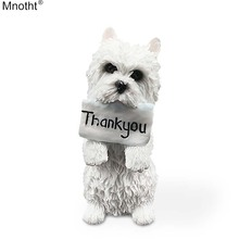 Mnotht Mini Animal Toy 1/6 West Highland Terrier Stående Inställning Tack Dog Model Resin Accessory for Action Figur md