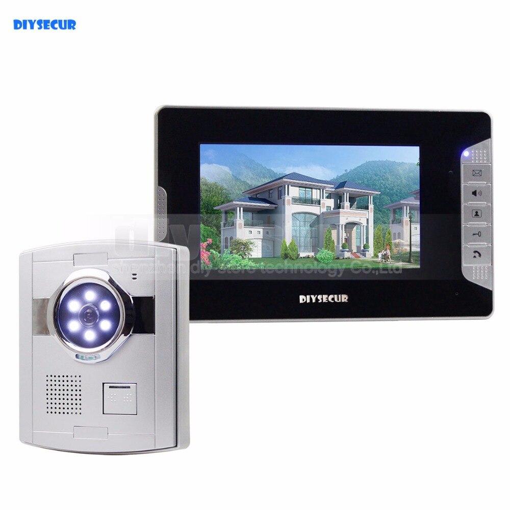 DIYSECUR Home Security Intercom Video Door Phone System 1 x 700TVL Camera 1 x 7 Monitor