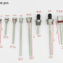 """Термопара длина L30-L500mm резьба 1/"""" 1/2"""" 3/"""" M8x1.25 M10x1.5 M12X1 трубы из нержавеющей стали 304"""