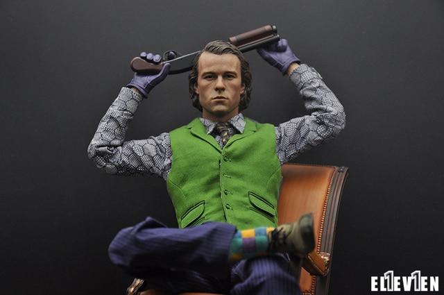 "1/6 scale figure doll head shape for 12"" action figure doll accessories.Batman JOKER Heath Ledger head sculpt,only sell head"