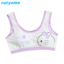 1pc Cutyome Teen Bras For Children Cotton Wireless Padded Students Training Underwear Young Puberty Girls Bra Kids Undergarments