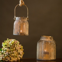 Classic Moroccan Decor Candle Holders Vintage Iron Hanging Candlestick Europe Lantern Home Wedding