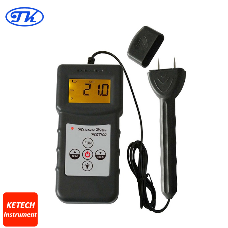 MS7100 Woodwork,Paper Making ,Flakeboard,Furniture Moisture Meter цена